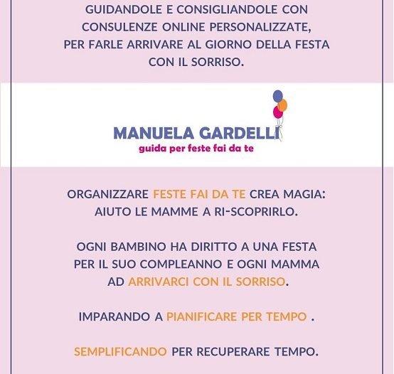 il manifesto di Manuela Gardelli guida per feste fai da te