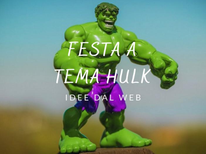 idee dal web per feste di compleanno per bambini a tema Hulk
